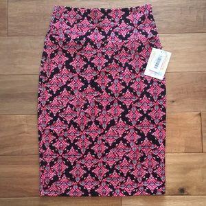 NWT LuLaRoe Xs Cassie Skirt Black Aztec